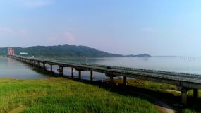 鄱阳湖大桥视频素材