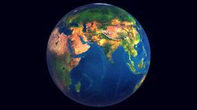大气4k三维地图旋转多圈可抠图带通道无云视频素材
