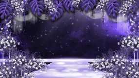 婚礼紫色场景视频素材