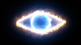 恶魔之眼带通道3视频素材