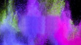 彩色烟雾粉尘爆炸视频素材