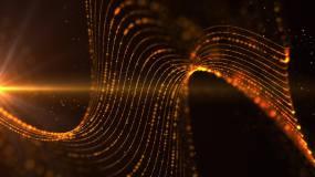 黑金粒子背景视频素材