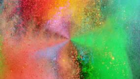 彩色粉末飘动视频素材