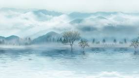 水墨山水-无缝循环视频素材