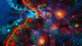 炫酷噪波分形波纹焦散视频素材