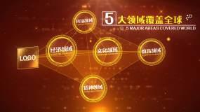 党政企业点线连接图形展示AE模版3AE模板