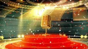 音乐话筒灯光舞台视频素材包