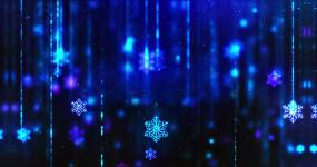雪花粒子下落循环视频素材