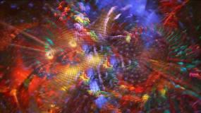 绚丽五彩光影流动背景视频素材