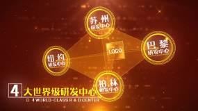 党政企业点线连接图形展示AE模版2AE模板