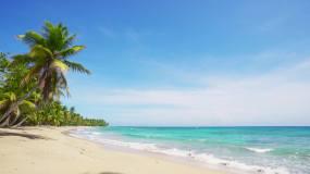 【4K】夏威夷风情海岛沙滩海浪-6视频素材