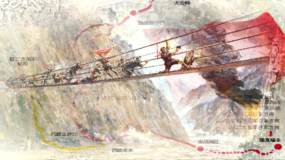 《长征》红色记忆舞台背景视频素材