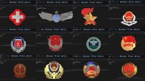 24套党政徽章合集AE模板AE模板