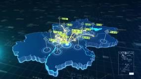 北京地图+辐射全国-4视频素材