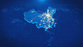 河北石家庄辐射全国地图AE模板