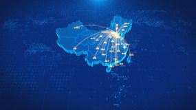 天津辐射全国地图AE模板