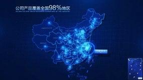科技地图浙江辐射全国AE模版AE模板