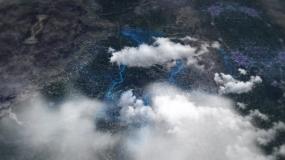 云穿梭城市区位图展示模板AE模板