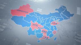 简洁大气蓝调中国地图ae模板AE模板