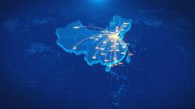 山东济南辐射全国地图AE模板