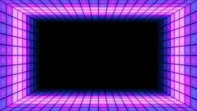 舞台灯光墙led霓虹灯动感背景视频素材