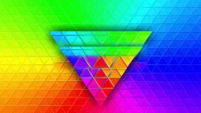 动感三角起伏vj背景视频素材
