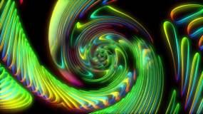 螺旋色彩旋转舞台背景视频素材