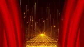4K红绸颁奖背景循环视频素材