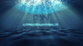 水下公司logo展现效果AE模板