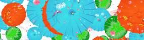 唯美花折伞视频素材
