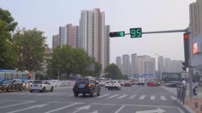 4K城市交通-堵车-拥堵-信号灯-路口视频素材