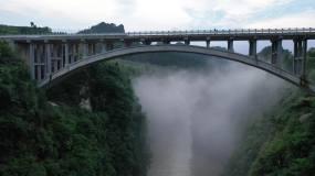 4K航拍龙鳌河大桥2组60秒视频素材