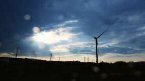 风力发电延时视频视频素材