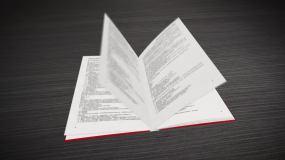 无插件纯ae制作书籍翻页动画AE模板