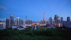 深圳市民中心夜景4K视频视频素材