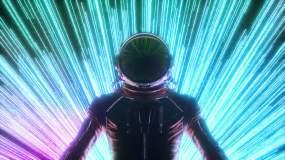 赛博朋克宇航员视频素材