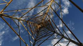 电塔移动延时视频素材