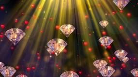 4K唯美大屏钻石婚庆告白舞台背景视频素材