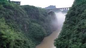 4K航拍龙鳌河峡谷大2组94秒视频素材