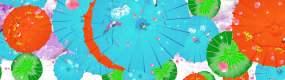 云海花折伞视频素材