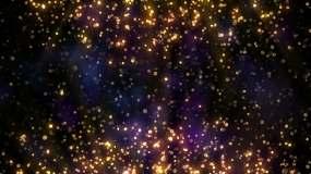 4K金色闪烁粒子舞台大屏背景视频素材