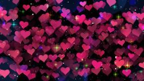 浪漫爱心背景-23循环视频素材