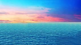 唯美晚霞海面视频素材