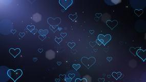 梦幻爱心背景-1循环视频素材