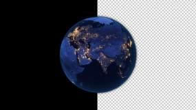 4K地球视频带通道视频素材