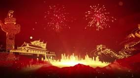 党政粒子红色背景视频素材