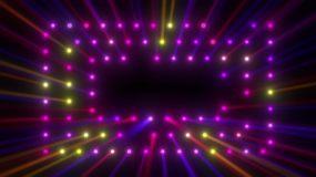 三层方框矩阵多彩射灯秀视频素材