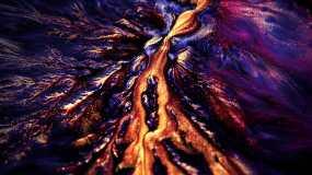 4K创意彩色颜料彩色流体背景视频素材