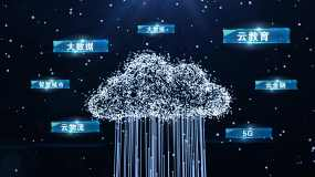 科技云大数据AE模板无插件AE模板
