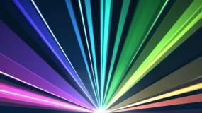 激光彩虹射线视频素材
